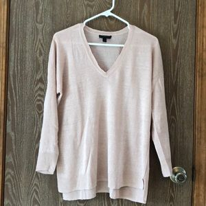J.Crew Taupe Linen Sweater Med